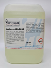 16300 - Vaatwas 630 vloeibaar vaatwasmiddel op basis van mild alkalisch en chloor voor vaatwasmachines 2 x 10 Liter
