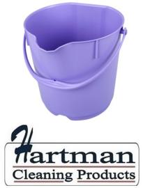 307106101-8 - FBK Emmer hoogwaardige kleurcode HACCP hygiënische polypropyleen paars 15 liter 80101