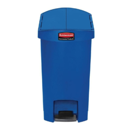 DJ762 - Rubbermaid Slim Jim End Step pedaalemmer blauw 30 ltr