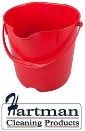 300106102-3 - FBK Emmer hoogwaardige kleurcode HACCP hygiënische polypropyleen 9 liter rood 80102