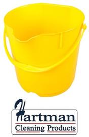 303106101-4 - FBK Emmer hoogwaardige kleurcode HACCP hygiënische polypropyleen 15 liter geel 80101