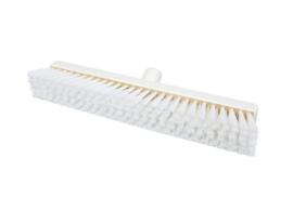 709151002-1 - Polyester FBK bezem vezels in hars gegoten kleurcode HACCP 400 mm x 50 mm hard wit  91156