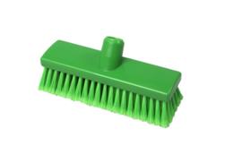210161010-5 - Inwasborstel waterdoorlatend FBK hoogwaardige kleurcode HACCP FBK hygiënische polyester 225 x 60 mm gespleten vezel zacht groen 22105