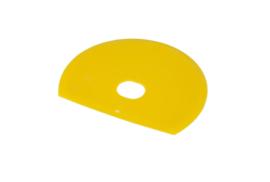 61180115 - Hoogwaardige kleurcode HACCP hygiënische deegschraper 160 x 125 mm, geel