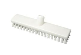 120161001 - Polyester vloerschrobber vezels in hars gegoten kleurcode HACCP 300 mm x 60 mm hard wit