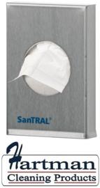 S1245700 - Santral RVS hygienezakjesdispenser Afmeting 136 x 91 x 24 mm