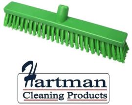 31510138-5 - FBK Hoogwaardige kleurcode HACCP hygiënische Polypropylene kunststof medium veger 400 x 50 mm groen 21336