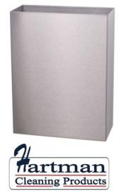 3815 - RVS afvalbak 25 liter open, CLB25L-CS Afvalbak open voor wandmontage. BASIC LINE