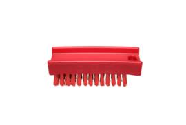 30130137-3 - FBK Nagelborstel hoogwaardig polyester kleurcode HACCP 110 x 45 mm harde vezel rood 15061