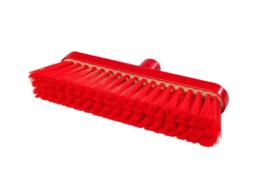 718151003-3 - Polyester FBK bezem vezels in hars gegoten kleurcode HACCP 280 mm x 48 mm zacht rood 93147
