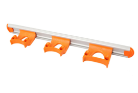 711102105-7 - Wand railophangsysteem kleurcode HACCP aluminium 500 mm 3 x klem oranje15155
