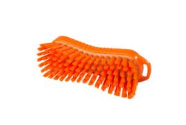 129151013-7 - Polyester handborstel vezels in hars gegoten kleurcode HACCP 210 mm x 70 mm hard oranje 95063