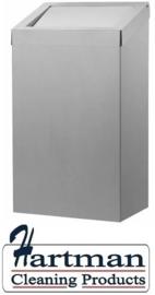 13073 - Afvalbak 50 liter gesloten RVS, AC BB 50 E Dutch Bins