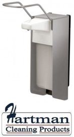 8010 - Zeep- & desinfectiemiddeldispenser RVS 500 ml KB, MediQo-line MQ05E