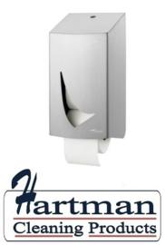 4132 - RVS AFP-C 2 toiletrolshouder voor 2 doprollen, WIN TR2S SAL WINGS