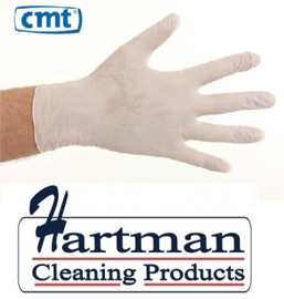 1102 - CMT nitril handschoenen poedervrij Small wit 10 x 100 stuks