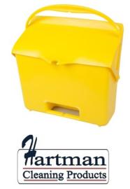 410101104-4 - FBK Hotelstofblik met handgreep hoogwaardige kleurcode hygiënische polypropyleen geel 80205