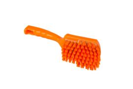 119151012-7 -Polyester FBK handborstel vezels in hars gegoten kleurcode HACCP 275 mm x 70 mm hard orange 90548