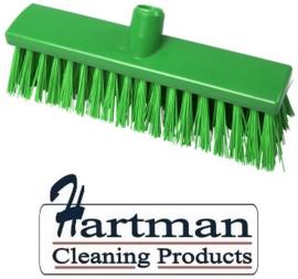 22110129-5 - FBK Hoogwaardige kleurcode HACCP Polyester hygiënische kunststof extra harde bezem 300 x 60 mm groen 23187