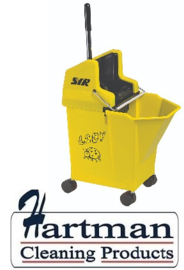 990791 - SYR Mobile mopsysteem met vaste wringer Lieveheersbeestje 9 liter kleurcode geel