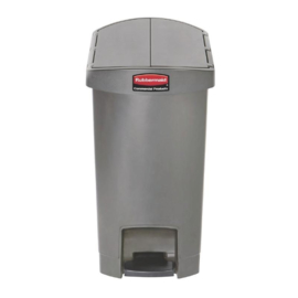 DJ760 - Rubbermaid Slim Jim End Step pedaalemmer grijs 30 ltr