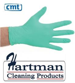 1603 - CMT soft nitril handschoenen poedervrij Medium Groen 10 x 100 stuks