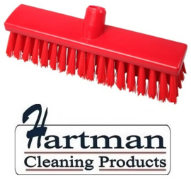 21710125-3 - FBK Hoogwaardige kleurcode HACCP Polyester hygiënische kunststof medium bezem 300 x 60 mm rood 23155