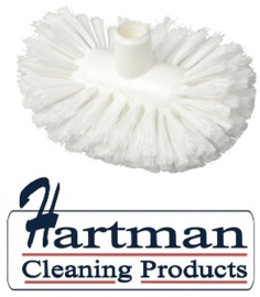 50020107-1 - Hoogwaardige FBK kleurcode HACCP hygiënische polyester zachte tankborstel 220 x 140  mm wit 27104