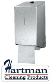 438001 - Euro matic doproldispenser, RVS mat voor 2 toiletrollen met dop EURO Products