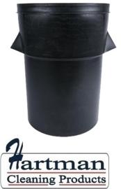 J649 - Zwarte kunststof afvalbak 94 Liter