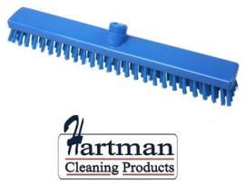 33210102-2 - FBK HACCP kleurcode schrobber met harde vezels geschikt voor hardnekkige reiniging van vloeren en wanden 400 x 50 mm, hard, blauw 21153
