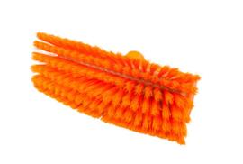 800151005-7 - Polyester FBK wasborstel vezels in hars gegoten kleurcode HACCP 280 mm x 48 mm zacht oranje  93135