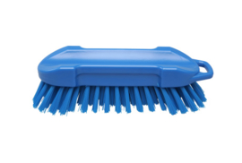 22530127-2 - FBK Polyester werkborstel kleurcode HACCP 210 mm x 65 mm harde vezel blauw 54153
