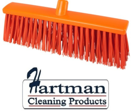 22410133-7 - FBK Hoogwaardige kleurcode HACCP Polyester hygiënische kunststof harde bezem 400 x 60 mm oranje 25190