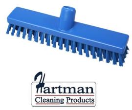 32510104-2 - FBK HACCP kleurcode schrobber met harde vezels geschikt voor hardnekkige reiniging van vloeren en wanden 300 x 60 mm, hard, blauw 23153
