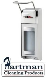 8050 - Zeep- & desinfectiemiddeldispenser aluminium 1000 ml LB, MediQo-line QL10A