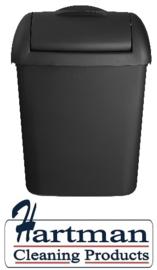 441458 - Hygienebak mat zwart 8 liter Euro Products