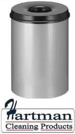 541003 - Safety vlamdover afvalbak grijs 30 liter