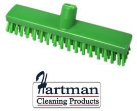 32510104-5 - FBK HACCP kleurcode schrobber met harde vezels geschikt voor hardnekkige reiniging van vloeren en wanden 300 x 60 mm, hard, groen 23153