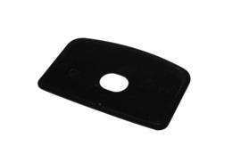 60580114 - Hoogwaardige kleurcode HACCP hygiënische deegschraper 146 x 98 mm,  zwart