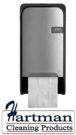441091 - Quartz-Line Doprol Toiletpapier Dispenser (Zilver / Zwart) EURO Products