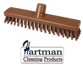 32510104-12 - FBK HACCP kleurcode schrobber met harde vezels geschikt voor hardnekkige reiniging van vloeren en wanden 300 x 60 mm, hard, bruin 23153