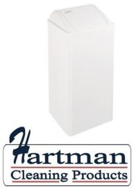 11070 - Afvalbak wit 80 liter gesloten, PP0080 Mediclinics