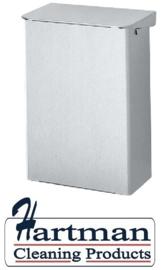 i287300 - Ingo-Man 15 liter Aluminium Afvalbak. Gesloten bak met klepdeksel Type AB 15 A. Afmeting 410x320x190 mm