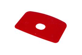 60280114 - Hoogwaardige kleurcode HACCP hygiënische deegschraper 146 x 98 mm rood