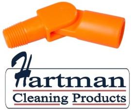 80027200-7 - FBK Hoogwaardige kleurcode HACCP hygiënische zwenkkoppeling universeel oranje 27200