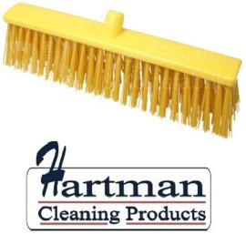 22510134-4 - FBK Hoogwaardige kleurcode HACCP Polyester hygiënische kunststof harde bezem 500 x 60 mm geel 26190
