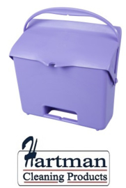 410101104-8 - FBK Hotelstofblik met handgreep hoogwaardige kleurcode hygiënische polypropyleen paars 80205