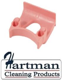 710102108-9 - FBK Klem voor wand railophangsysteem kleurcode HACCP ø 28 - 38 mm roze 15151