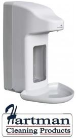 98812 - Zeep- & desinfectiemiddeldispenser automatisch kunststof 500 ml + opvangschaal, MediQoline MQA05K